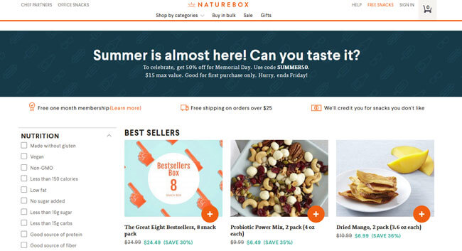 NatureBox Homepage