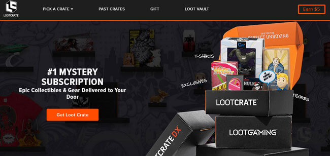 loot crate homepage