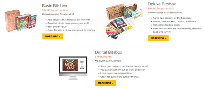 Bitsbox boxes