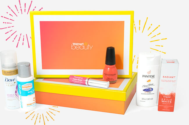 Walmart Beauty subscribe Box