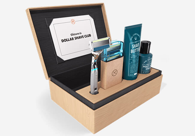 dollar shave clubs ubscribe box
