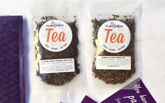 Plum Deluxe tea in the bag