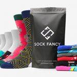 Sock-Fancy box on white background