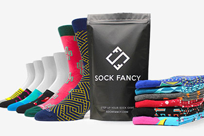 Sock-Fancy box on white background