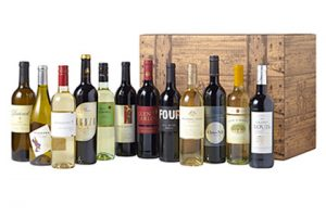 12 bottles wines in a wine gift case