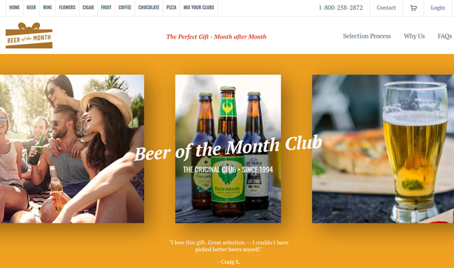 Clubs Of America Beer Of The Month Club homepage