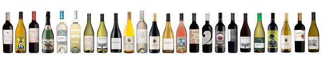 Revel Wine Club bottles wine on white background