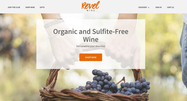 Revel Club printscreen homepage