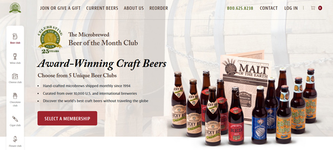 The Microbrewed Beer-Of The Month Club homepage