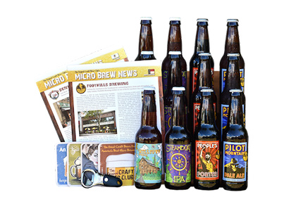 the craft beer on white background